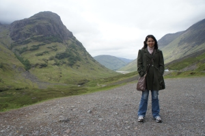 Nas Terras Altas da Escócia, querendo viver para sempre.