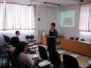 Profa. Rosane no Colóquio - sempre com uma palestra na manga.