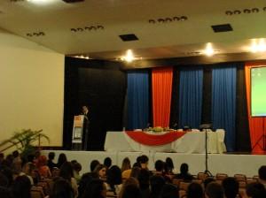 Abertura do evento.