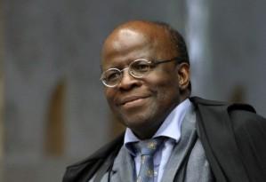 Ministro Joaquim Barbosa, presidente do Supremo Tribunal Federal  (STF) e também do Conselho Nacional de Justiça (CNJ)